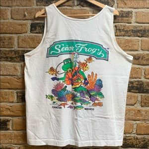 Vintage Senior Frogs tank top from Cancun, Mexico